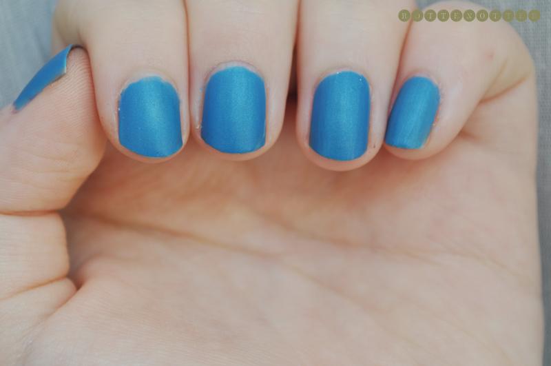 models own blue lagoon notd nail polish matte