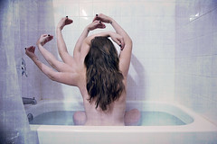 Bathing Alone [248/365] (Angela Mary Butler) Tags: selfportrait water crazy hands bath arms class bathtub bathtime 365days angelamarybutlerphotography followontwitterangelamarybee httpwwwfacebookcomangelabutlerphotography bathingalone