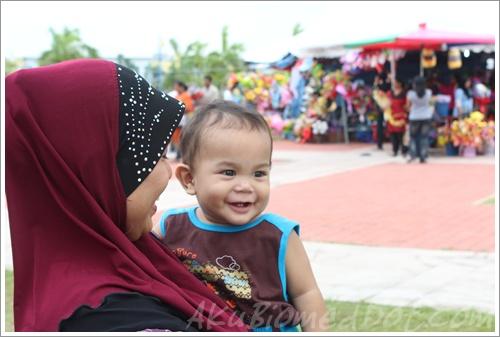 Baby Aslah smiling