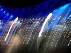 Blue Movement (robc19) Tags: blue abstract blur colour building london movement surrealism surreal londoneye blurred structure conflict