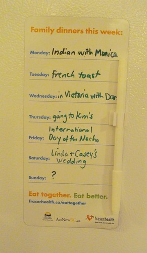 Dinner planning fridge magnet