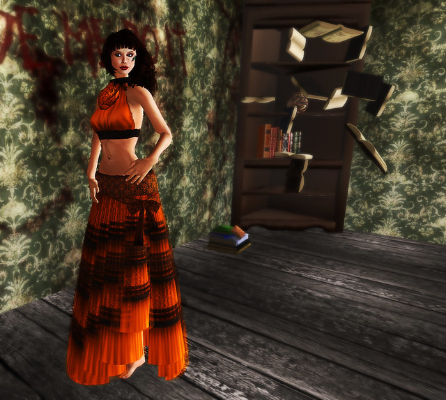 Pumpkin coloured dres