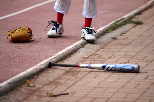 20110910(六)看王建民的學弟們練棒球(台南市崇學國小)