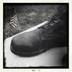 Remember (xwhiteboy777x) Tags: 2001 america soldier boot remember 10 flag nine 911 nypd september hero september112001 heroes september11 eleven fdny 2011