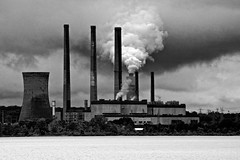 Chalk Point Coal-Fired Powerplant (Baab1) Tags: blackandwhite bw apple monochrome clouds aperture nikon niceshot maryland globalwarming coolingtowers patuxentriver d300 southernmaryland niksoftware chalkpoint coalfiredpowerplants mygearandme marylandcoalfiredowerplants charlecountymaryland