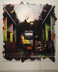 The Factory, 2011, 186cm x 174cm, spray can & acrylic on Mdf (hand cut stencils)