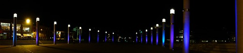 Roald Dahl Plass Night Panorama