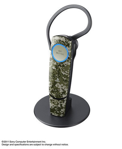 PlayStation Peripherals: Urban Camoflauge Bluetooth Headset