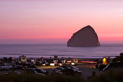 Pacific City at sunset (mathowie) Tags: