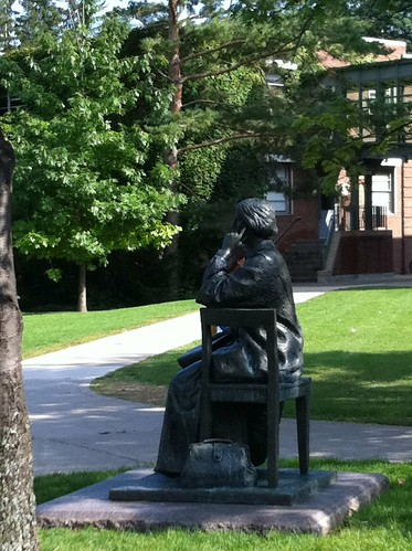 Statue of Elizabeth Blackwell on the Hobart and William Smith Quad