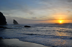 Pr do Sol I (Turist of the World) Tags: ocean travel sunset sun praia beach portugal water
