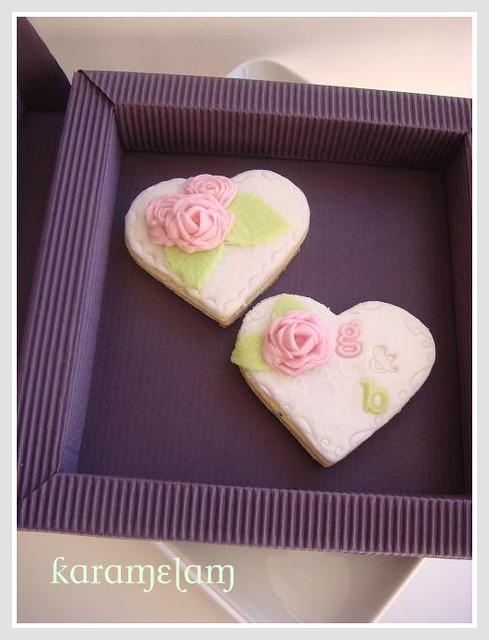 romantik düğün kurabiyeleri