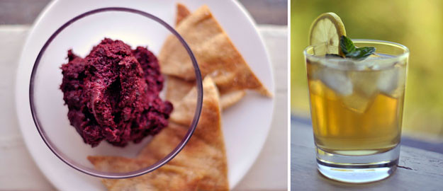 beetroot-hummus-and-iced-tea