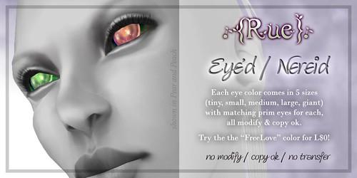 .{Rue}. Eye'd/Nereid
