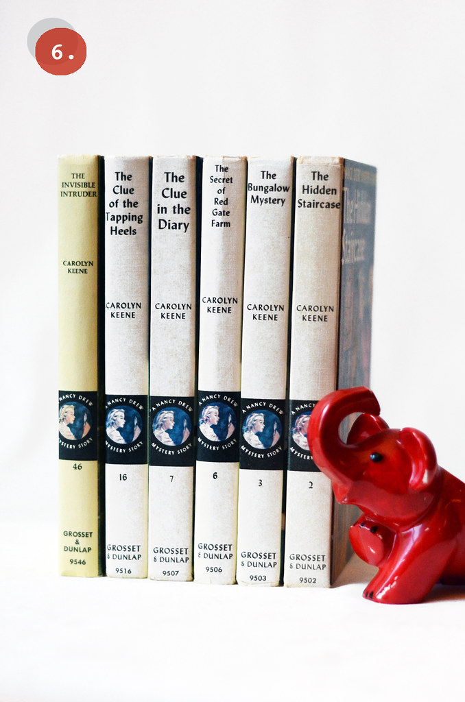 Vintage Nancy Drew Books, Set of Six