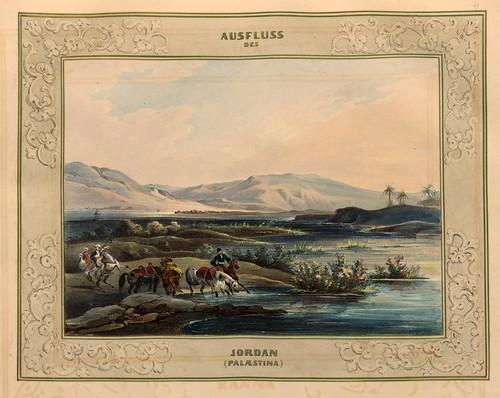 015-Desembocadura del Jordan-Palestina-Malerische Ansichten aus dem Orient-1839-1840- Heinrich von Mayr-© Bayerische Staatsbibliothek
