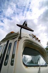 Rear View Mirror (Michael Mitchener) Tags: reflection bus museum clouds ttc transit haltoncountyradialrailway michaelmitchenercom servicecutbacks