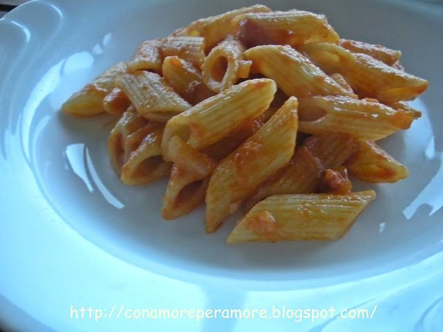 pasta salsiccia e pancetta