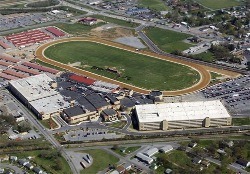 aerial of the casino and race track (by: Panaoramio user pic4444, via Google Earth)
