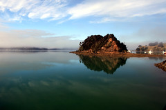 Treasure Island (Tonyfoster) Tags: new mist water island treasure north calm zealand totara whangaroa