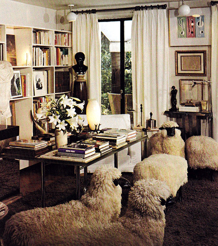 Yves Saint Laurent sheep chairs