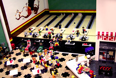 Keep Those Balls Rolling! (Dave Shaddix) Tags: lego mosaic bowling pinball