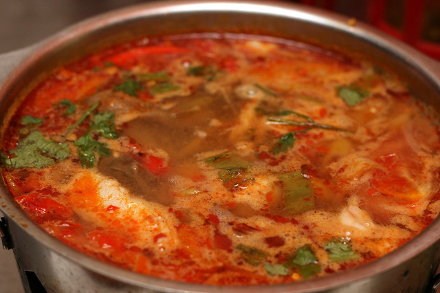 Seafood Tom Yum (S$10) - Spicy Sour Red Soup