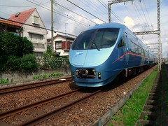 MSE on main line (Matt-san) Tags: railroad japan private japanese asia tracks railway trains transportation rails odakyu odakyuelectricrailway photosjapan romancecars