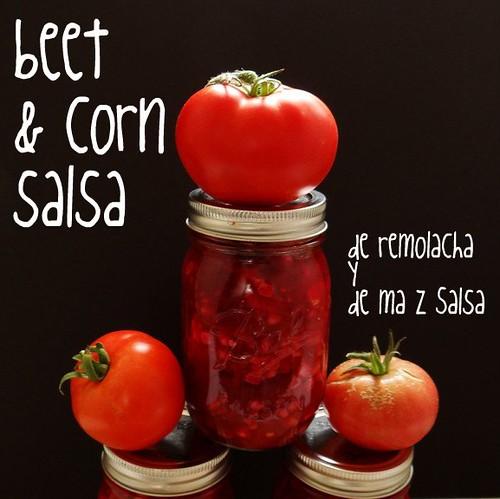 beet + corn salsa