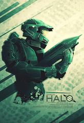 Halo Film Poster (Ron Guyatt) Tags: game green film poster video halo ron series spartan alternate guyatt