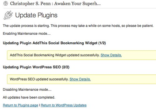Update Plugins ‹ Christopher S. Penn : Awaken Your Superhero — WordPress