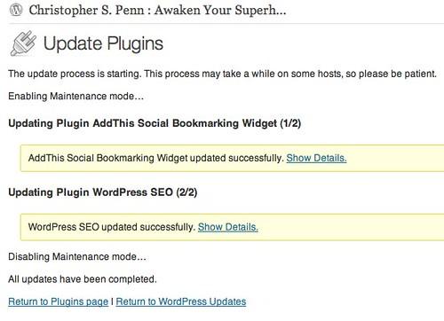 Update Plugins ‹ Christopher S. Penn : Awaken Your Superhero — WordPress