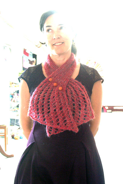 Anthropologie Inspired Knitted Lace Neck Wrap Pattern