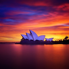 Opera Sunrise (Noval N | Photography) Tags: longexposure sky clouds sunrise dawn cityscape sydney australia nsw operahouse