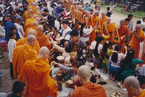 Luang Phabang, tàak bàat ceremony at the That Luang