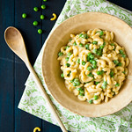 Stove Top Macaroni & Cheese with Peas and Chicken