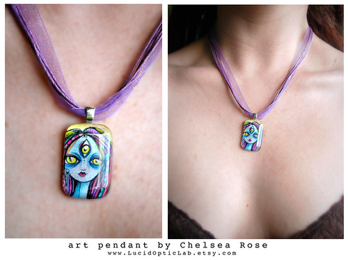 art pendant by Chelsea Rose