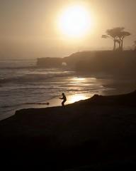 tai chi at sunset (its beach)(santa cruz) (zimway2k) Tags: santa beach its surf surfer surfing tai cruz chi lane surfboard steamer scruz wetsuit
