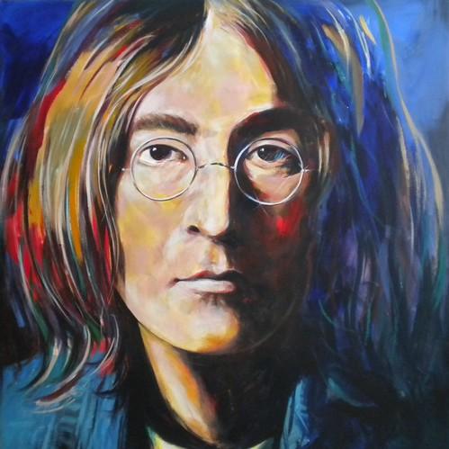Lennon - Painting - Raalism