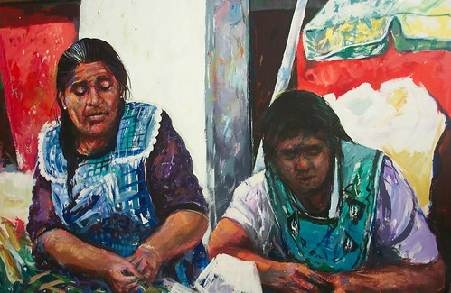 Mexican Market - Painting - Impressionism