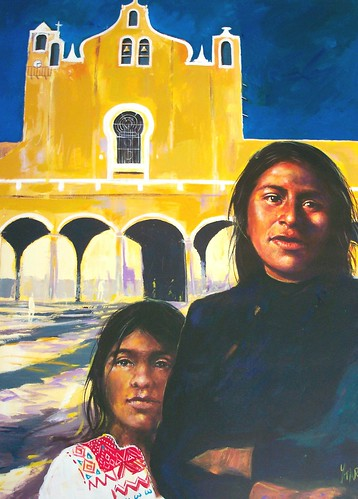 Mexico Mother and Child - Painting - Realism