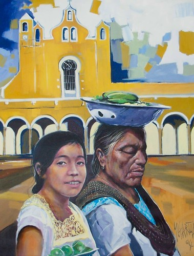 Natives of Mexico - Painting - Realism