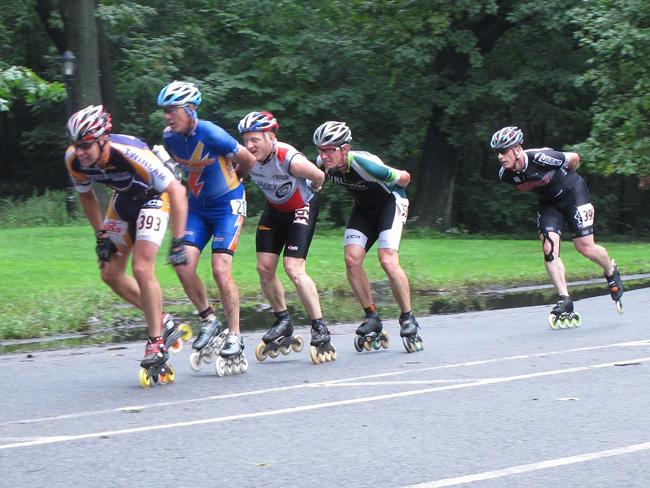 In line race, Prospect Park