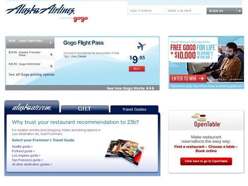 Gogo's In-Flight Wi-Fi on Alaska Airlines