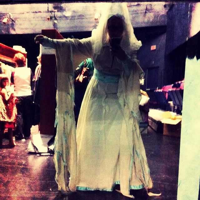 me in a creepy princess costume
