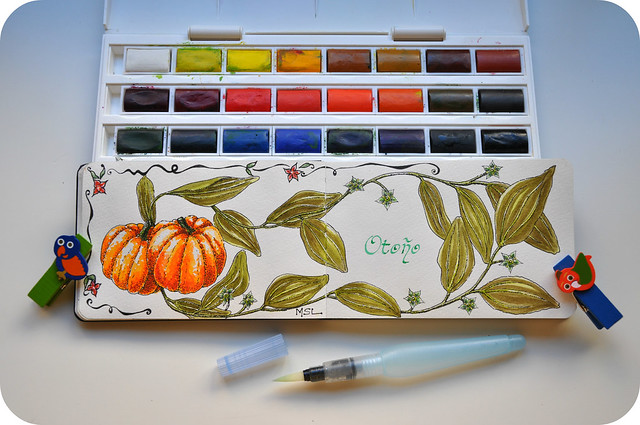 Pumpkins in watercolors