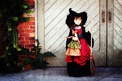 The First Witch (VictoriaScreams) Tags: autumn holiday fall texture halloween witchhat witch seasonal ivy wicca witchcraft autumnal broomstick supernatural redandblack cuteandspooky halloween2011 witchragdoll