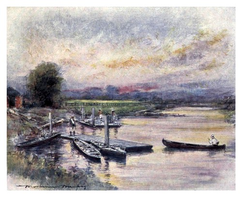 004-Radley College casa de botes-The Thames-1906- Mortimer Menpes