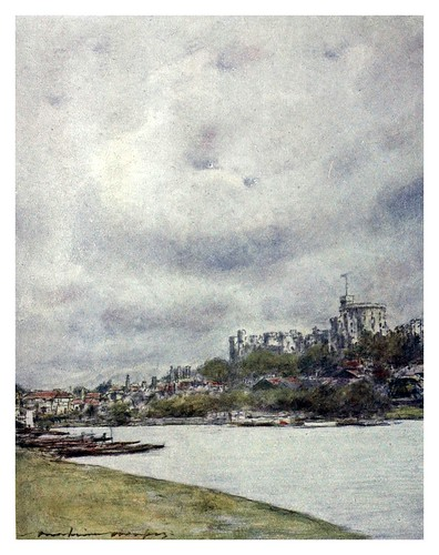 016-Windsor-The Thames-1906- Mortimer Menpes