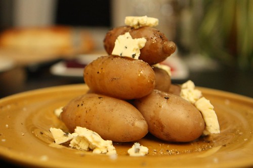 Fingerling Potatoes with Cambozola